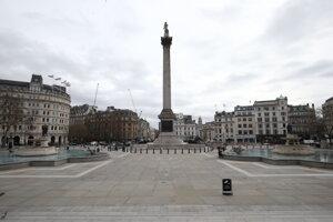 Trafalgarské námestie v Londýne.