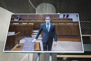 Igor Matovič skladá poslanecký sľub.