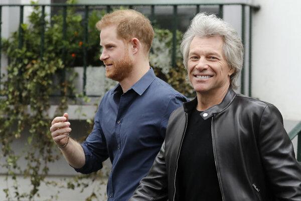 Jon Bon Jovi s princom Harrym.