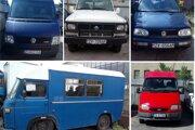 Vozidlá, ktoré ponúkajú ŽSR na predaj.