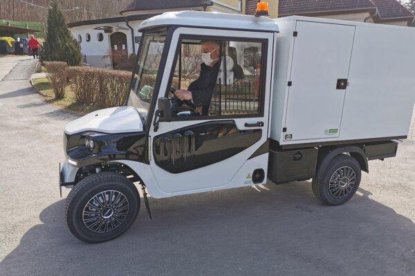 Elektrické vozidlo v Prešove.