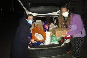 Zorganizovali aj zbierku hygienických potrieb.
