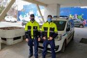 Mestskí policajti v Trnave.