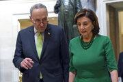 Predsedníčka americkej Snemovne reprezentantov Nancy Pelosiová a líder demokratov v Senáte Chuck Schumer.