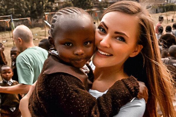 Monika Paločková v Keni.