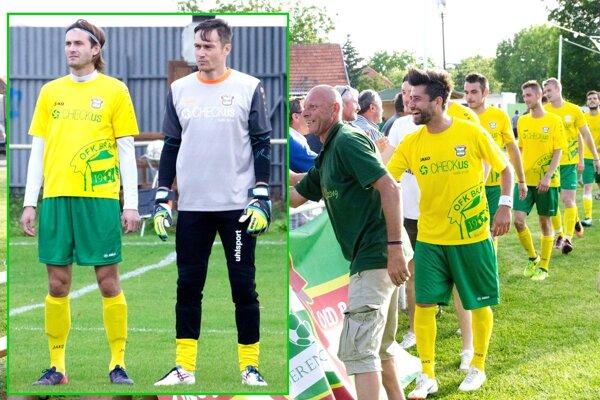 Aj exligisti Marián Had a Miroslav Filipko (v koláži vľavo a vpravo) by s Brančom radi zažili postupové oslavy do piatej ligy.