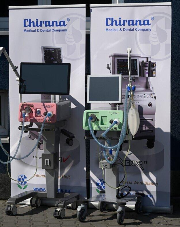 Pľúcne ventilátory od spoločnosti Chirana Medical.