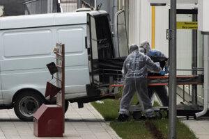 Prevoz obete v Moskve.
