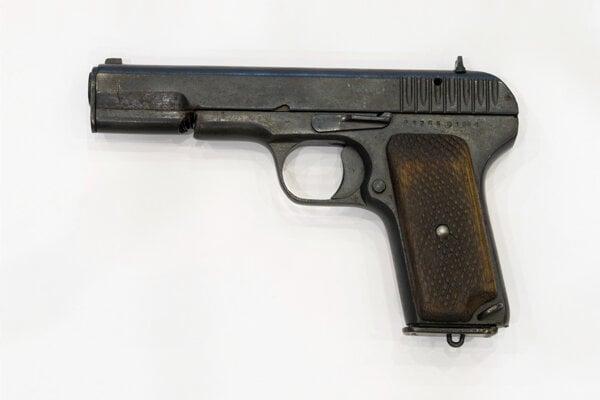Sovietska pištoľ Tokarev TT-33 používaná v II. svetovej vojne.