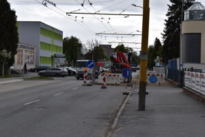 Budovateľská ulica v Prešove.