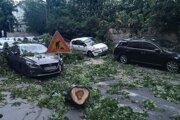 Pád stromu poškodil štyri autá.