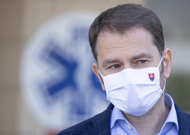 Koronavírus na Slovensku: Premiér Igor Matovič na tlačovej besede 12. 5. 2020.