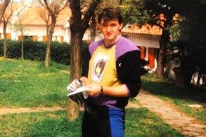 Ján Garaj na sústredení v Taliansku (1992).