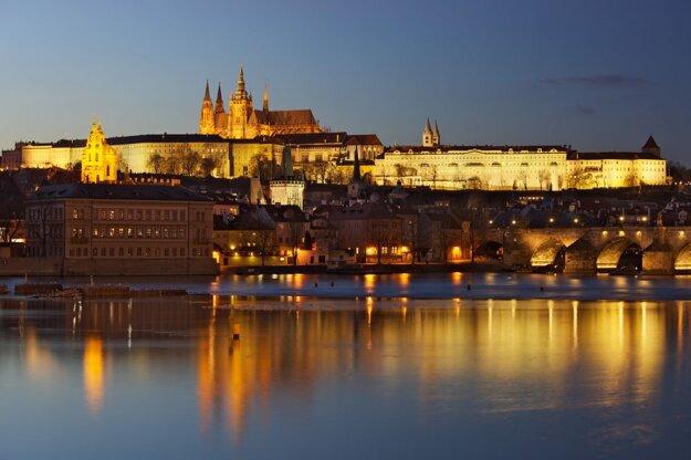 Výhľad na Pražský hrad a Vltavu