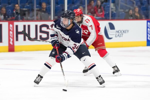 Ruslan Ishakov pokoril v slovenskej extralige dorastu stobodovú hranicu. O rok na to ho v 2. kole zo 43. miesta draftoval NY Islanders.