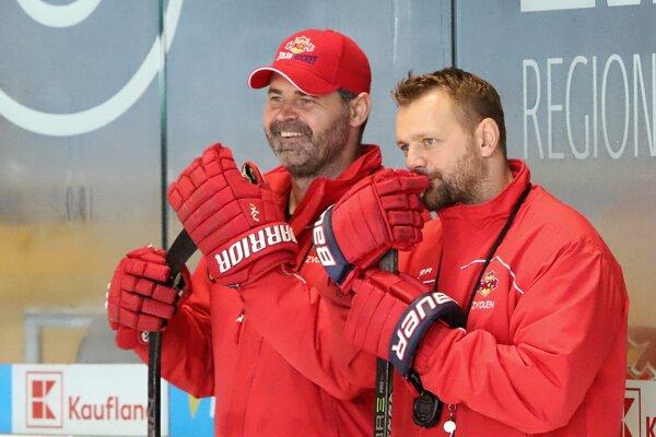Michal Kobezda (vľavo) počas pôsobenia v HKM Zvolen.