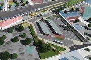 Vzhľad budúcej autobusovej stanice.