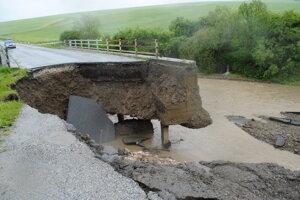 Krásna Lúka - okres Sabinov po záplavách 2010.