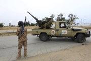 Príslušníci líbyjských vládnych síl.