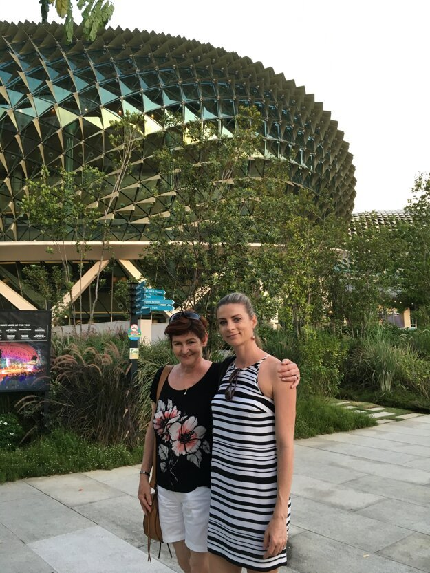 S maminou Margitou - telovýchovnou lekárkou.