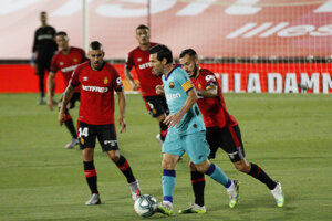 Lionel Messi v zápase Mallorca - FC Barcelona.