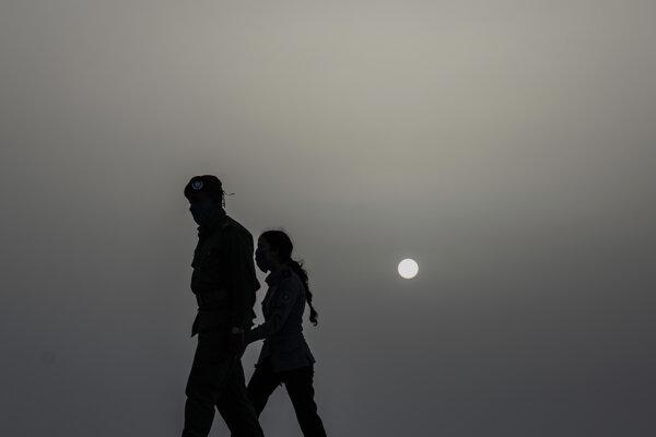 Oblak saharského piesku nad Kubou.