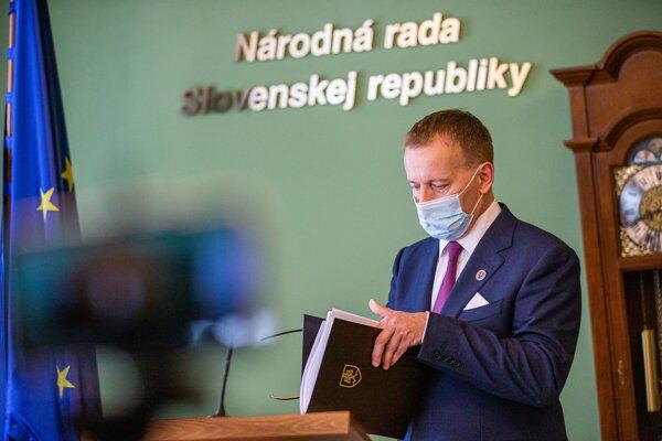 Predseda parlamentu Boris Kollár.
