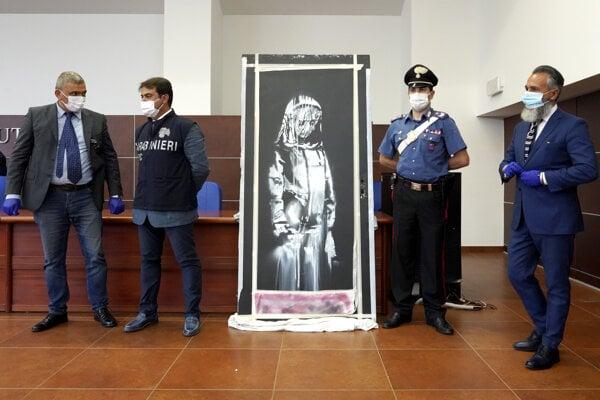 Talianska polícia získala ukradnutú Banksyho maľbu začiatkom tohto mesiaca.