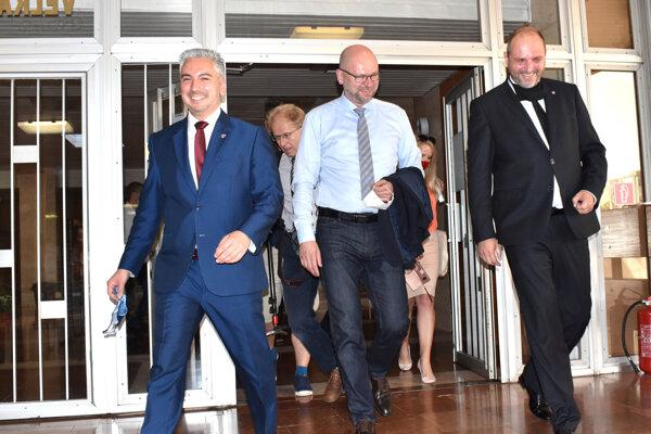 Richard Sulík s predsedom KSK a košickým primátorom.