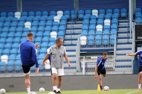 Ivan Galád na dnešnom tréningu FC Nitra.
