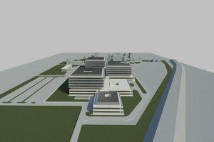 Vizualizácia novej nemocnice v Trnave.