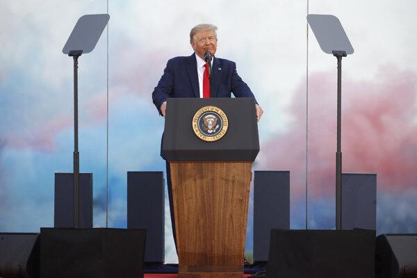 Americký prezident Donald Trump počas osláv Dňa nezávislosti.