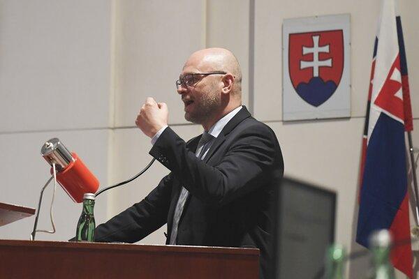 Podpredseda vlády SR a minister hospodárstva SR Richard Sulík (SaS).