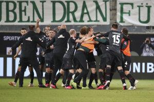 Momentka zo zápasu Brémy - Heidenheim.