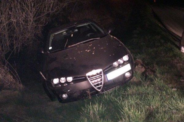 Nepojazdná Alfa Romeo.