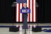 Joe Biden počas kampaane v štáte Delaware.