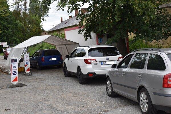 Mobilné odberové miesto v Prešove.