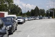 Hraničný prechod Promahonas medzi Bulharskom a Gréckom.