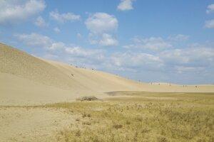 Pieskové duny pri Tottori.