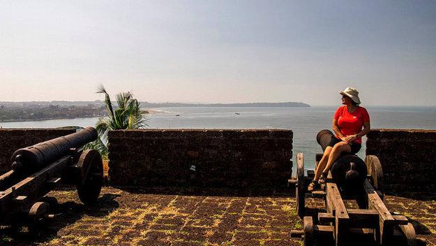 Delá pevnosti Magos strážili pobrežie Arabského mora.