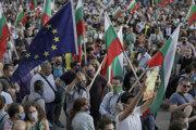 V dave boli zástavy Bulharska aj Európskej únie.