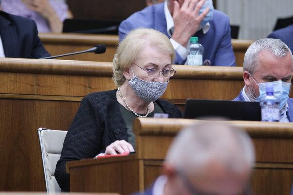 Poslankyňa parlamentu za hnutie OBYČAJNÍ ĽUDIA a nezávislé osobnosti Anna Záborská.