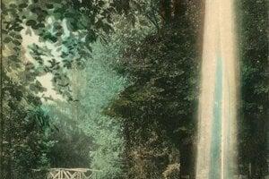 Dobová pohľadnica z Levíc.