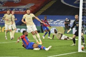 Momentka zo zápasu Crystal Palace - Manchester United.