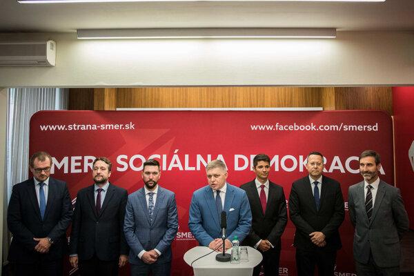 Fico predstavil podpredsedov Smeru.