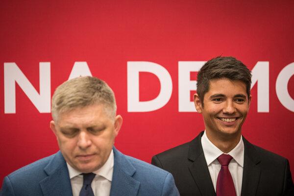 Robert Fico a nový podpredseda Smeru Erik Kaliňák.
