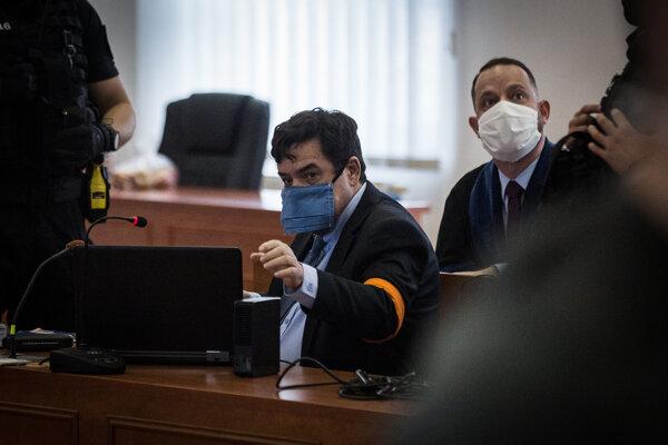 Obžalovaný Marian Kočner na štvrtkovom pojednávaní.