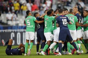 Momentka zo zápasu PSG - St. Etienne.