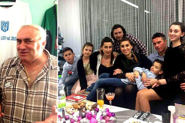 Jozef Slíž už má 70 rokov. Na spoločnej snímke jeho dcéry s manželmi a deťmi – Benčíkovci a Kotulovci.