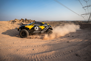 Testovanie Extreme E v Saudskej Arábii.